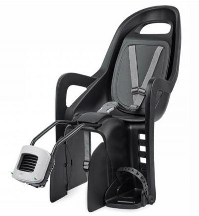 Polisport achterzitje Groovy maxi zwart/grijs framebevestiging
