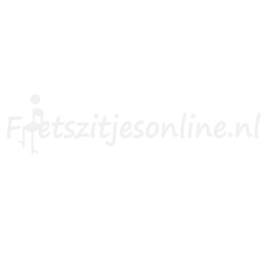 Polisport achterzitje Bubbly + dragerbevestiging grijs/bruin